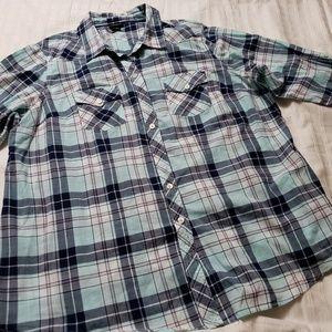 Torrid Button Down Long Sleeve Plaid Shirt